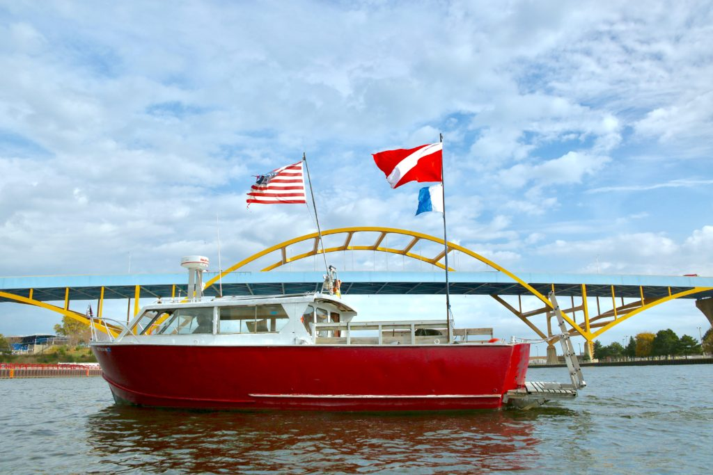 Come dive the Alma with Double Action dive charters. The best Milwaukee area dive charter to see the Lake Michigan shipwrecks.